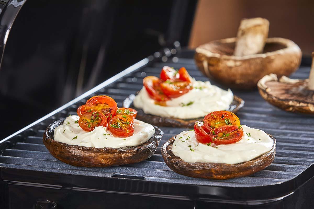 Portobello relleno de queso