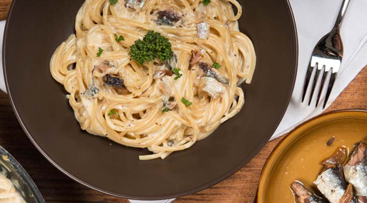 Spaghetti with Spanish-Style Sardines