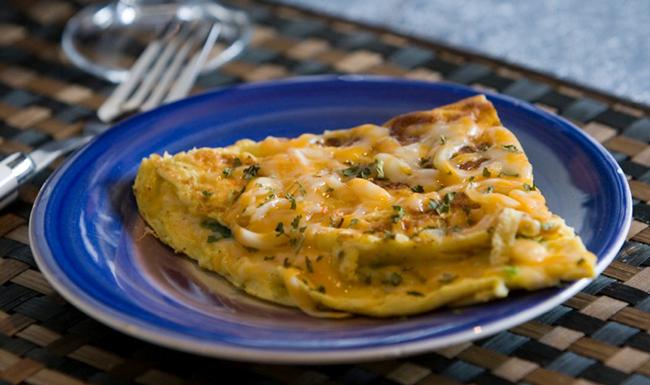 Omelette de Pollo y Hongos