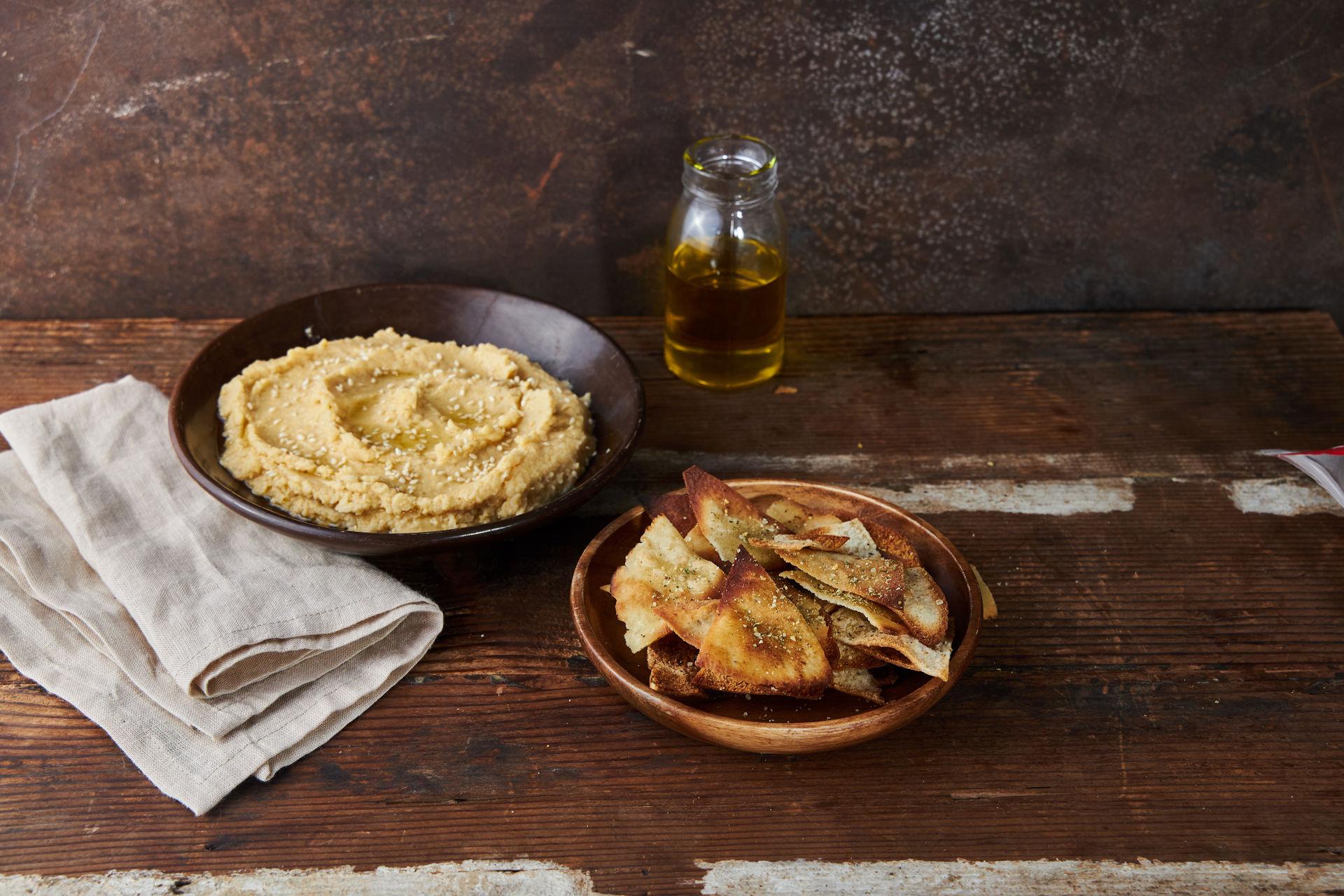 Pita Chips con Hummus