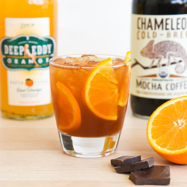Boozy Orange Mocha Cocktail