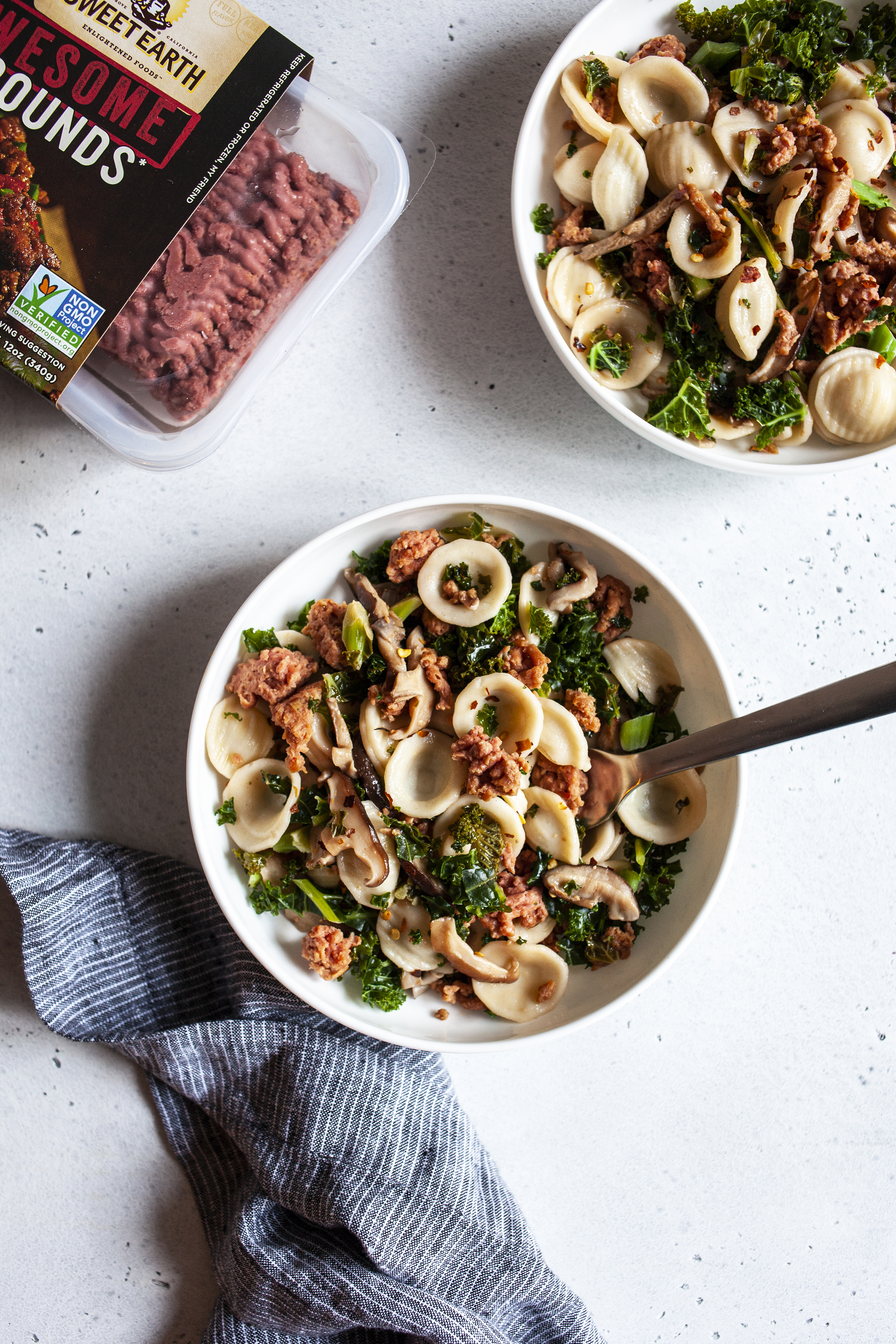 Protein Packed, Awesome Mushroom Kale Pasta
