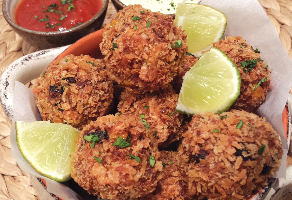 Chickpea and Chipotle Seitan Fritters