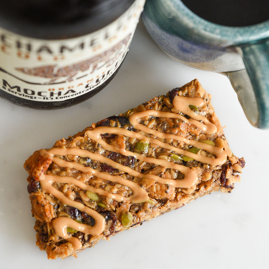 Peanut Butter Cold Brew Cereal Bar