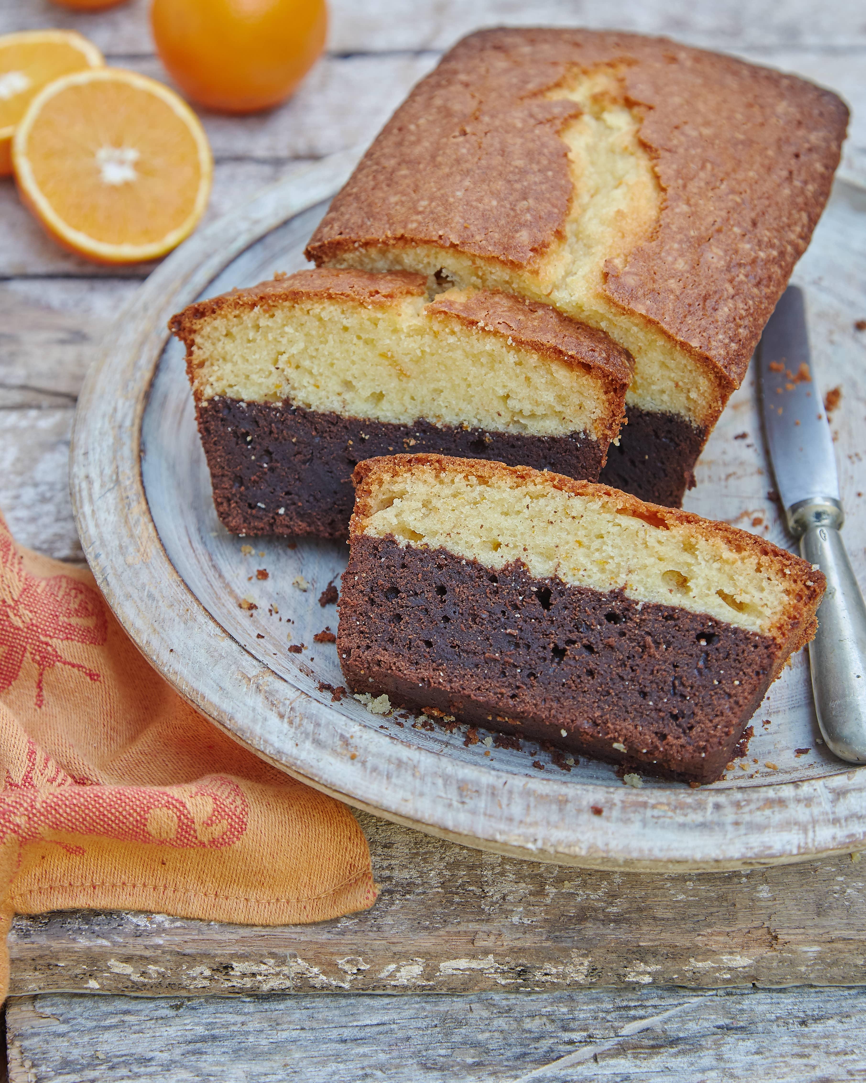 Budín de Brownie y Naranja