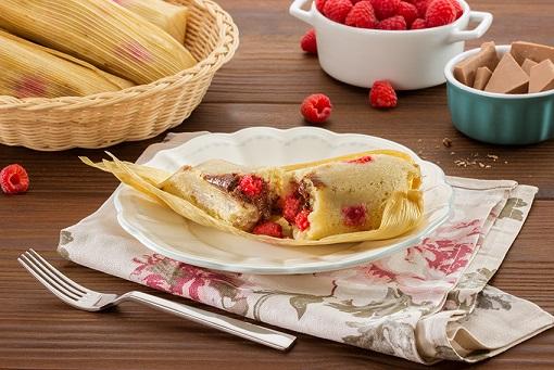 Tamales de frambuesa
