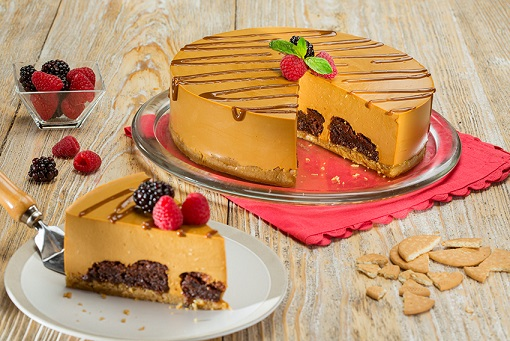 Cheesecake con brownies