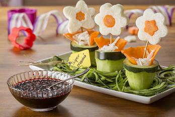 Flores de jícama y zanahoria