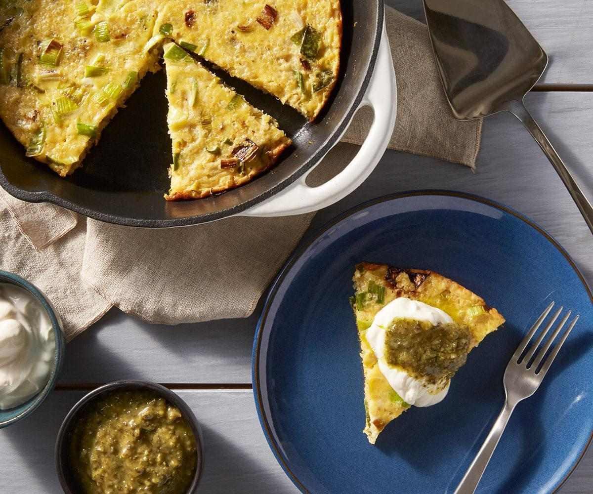 Leek and Quinoa Breakfast Frittata