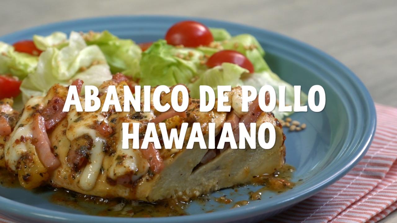 Abanico de pollo hawaiano