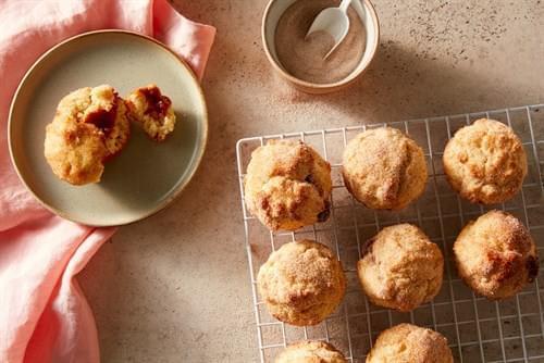 Donuts De Lata De Muffin Rellenos De Dulce De Leche