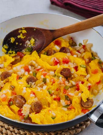 Scrambled Egg with Sausage