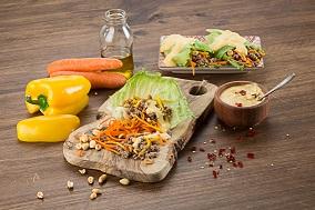 Tacos de lechuga ligeros