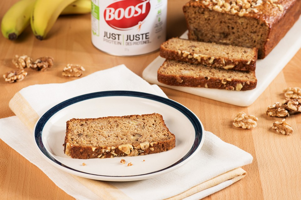 BOOST Just Protein Banana Crunch Loaf
