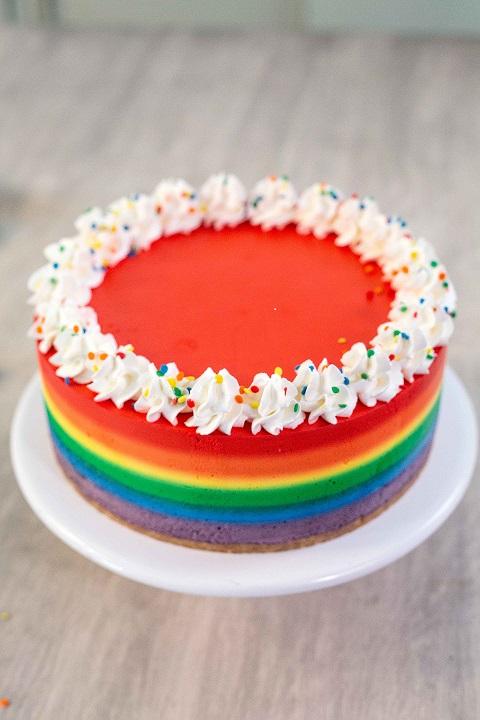 Cheesecake arcoíris