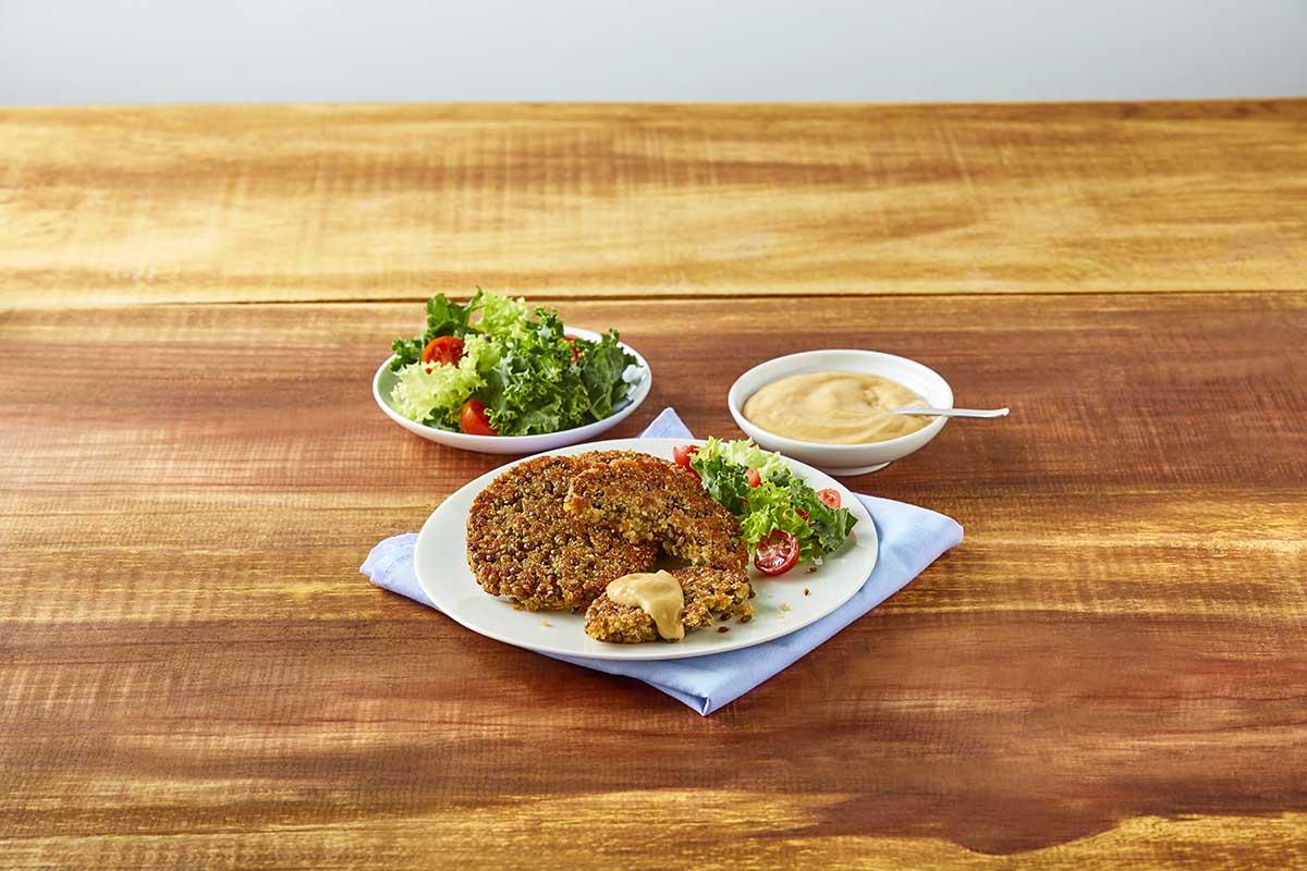 Hamburguesa de lenteja y quinoa - Copy