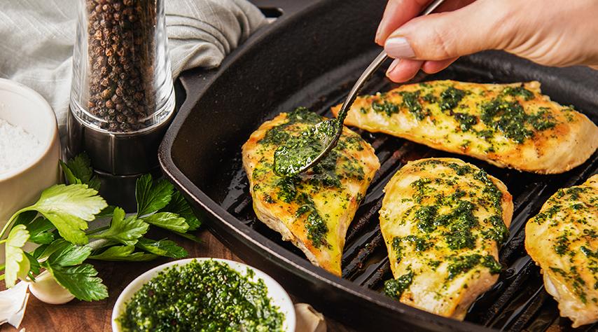 Pollo a la Plancha con Chimichurri