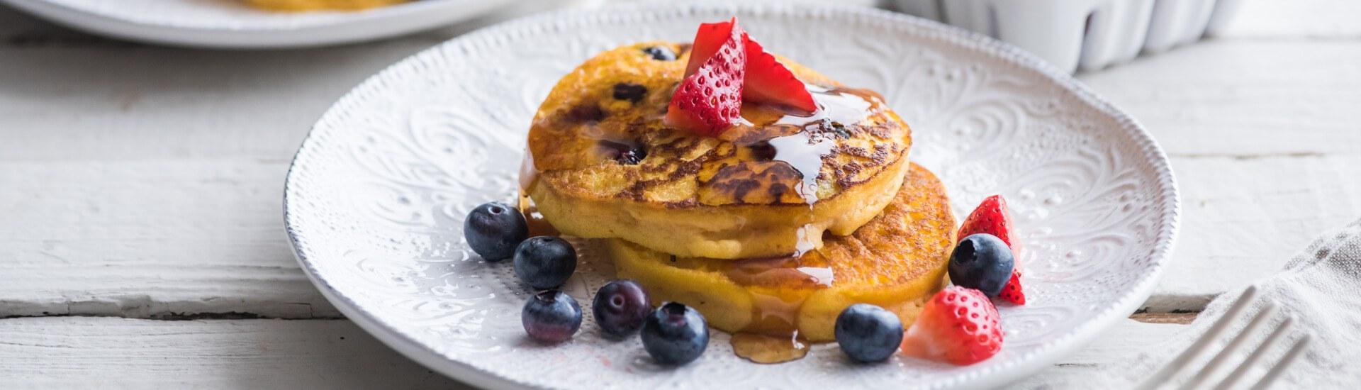 Gluten Free Pumpkin Blueberry Pancakes