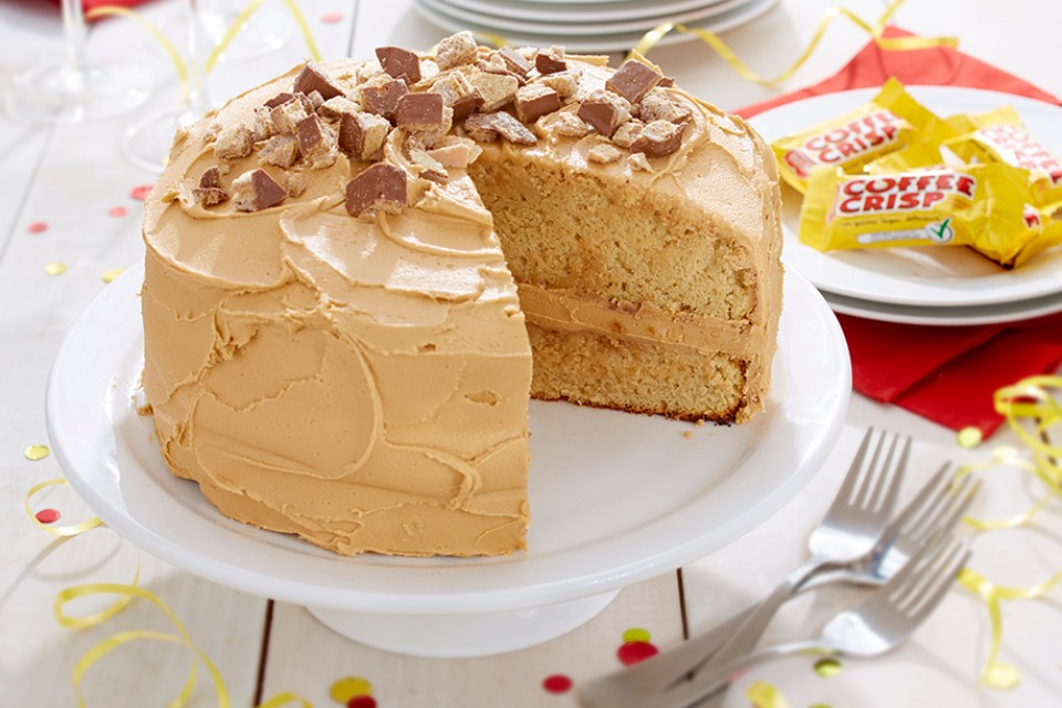 COFFEE CRISP Birthday Cake