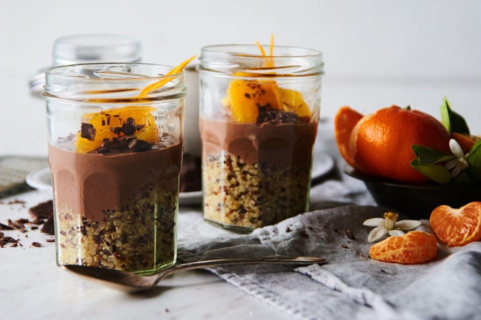 Chocolate Orange Quinoa Parfait