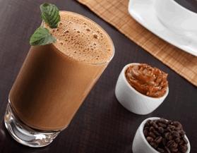 Malteada de café con dulce de leche