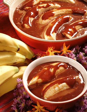 Salsa de dulce de leche  y plátano