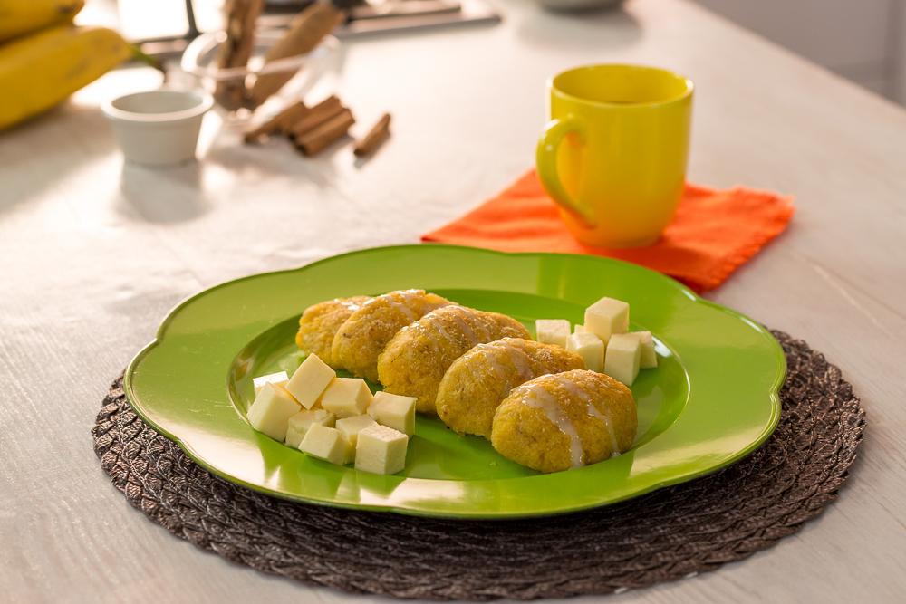 Pastelillos de plátano maduro