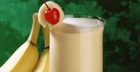 Licuado de plátano y durazno