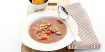 Mexicaanse tomatensoep met chorizo
