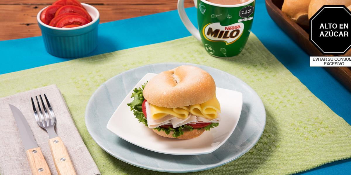 Sándwich de Jamón, Queso, Tomate y Lechuga