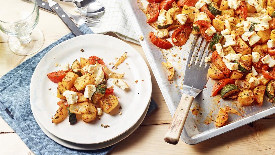 Mediterrane Kartoffeln mit Feta