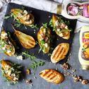 Grzanki z grillowanymi gruszkami curry