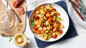 Süßkartoffelsalat mit Chorizo