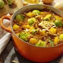 Bauerntopf mit  Kartoffeln und Rosenkohl