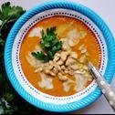 Egzotyczna zupa krem: marchew, kokos, awokado