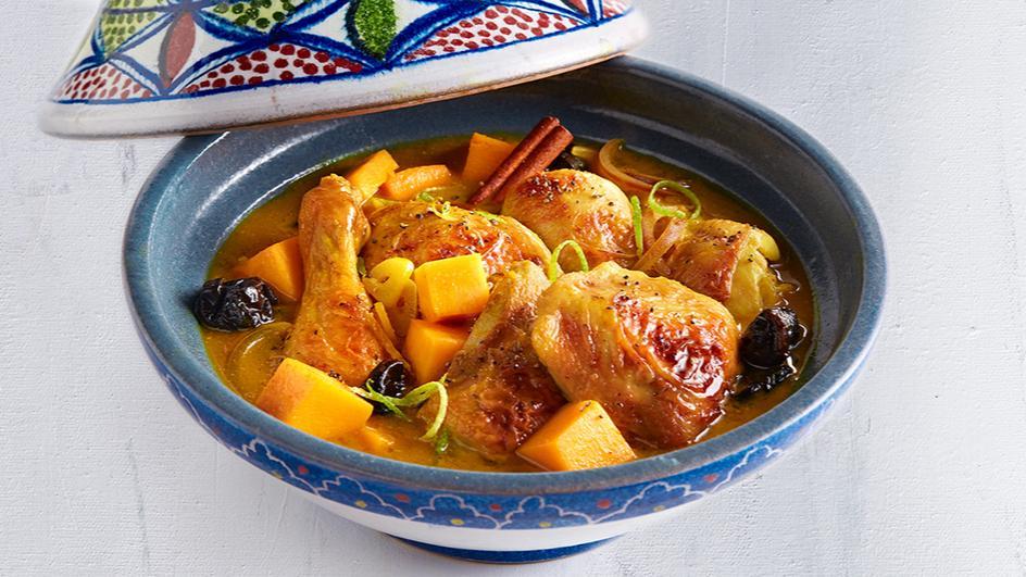 Chicken Tagine with Pumpkin & Prunes