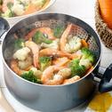 Steamed Shrimp and Vegetables