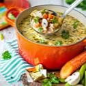 Rýchla hydinová polievka so šampiňónmi