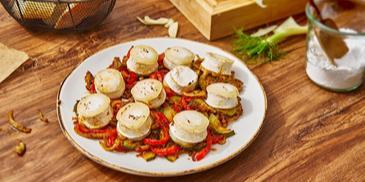 Gemüse mit Ziegenkäse vom Blech