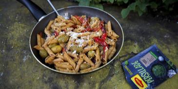Makaronai su kepta paprika