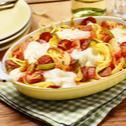 Überbackene Spaghetti mit Chorizo