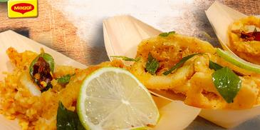Spiced Calamari with Mango Chutney