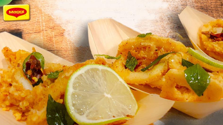 Spiced Calamari with Mango Chutney