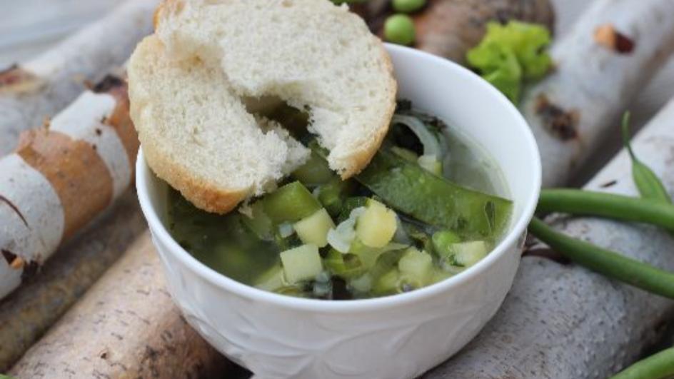 Zielone minestrone