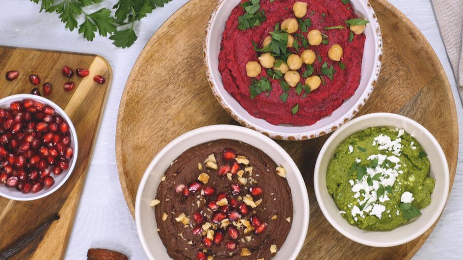 Dreierlei Hummus Variationen