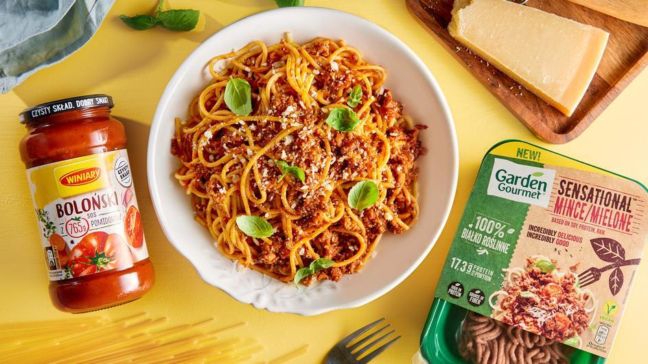 Wegetariańskie spaghetti po bolońsku