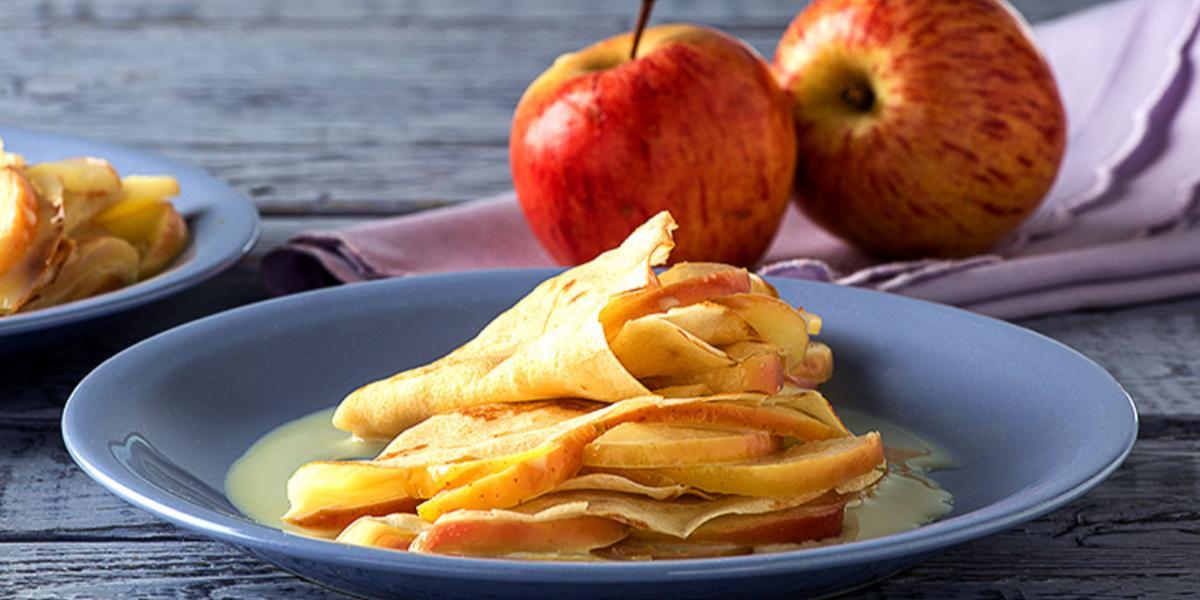 crepes de manzana