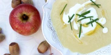 Zupa jabłkowa z porem