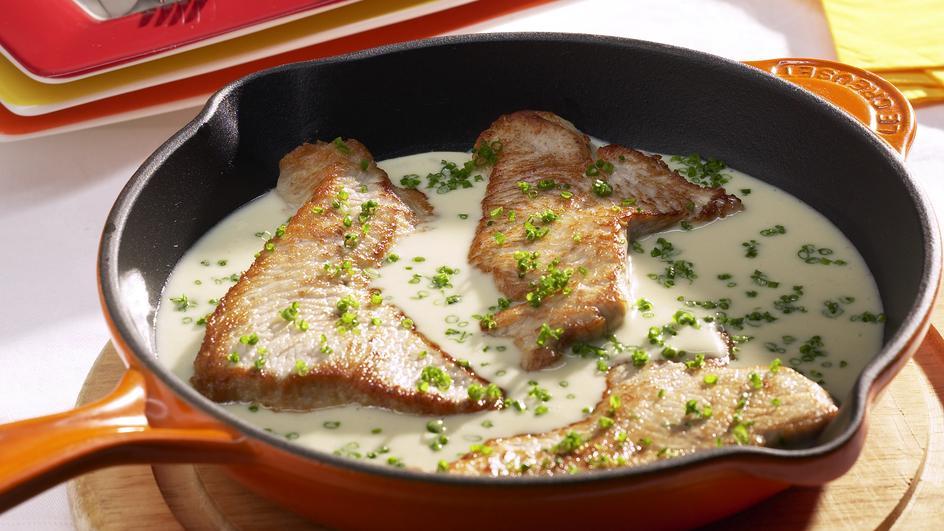 Putenschnitzel in Rahmsauce