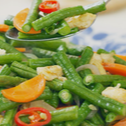 Stir-Fried Long Beans With Egg